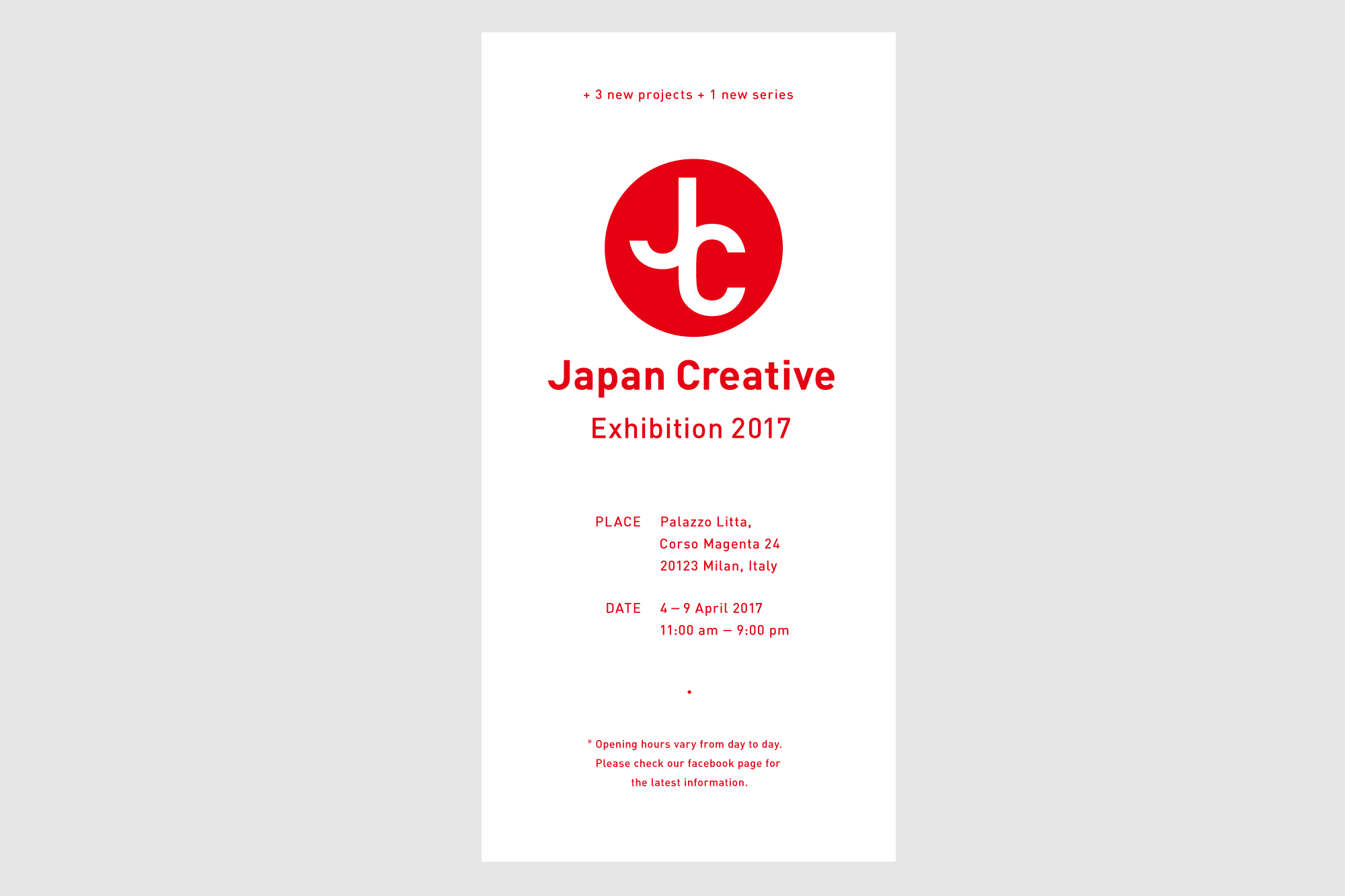 Japan Creative Exhibition Milano 2017