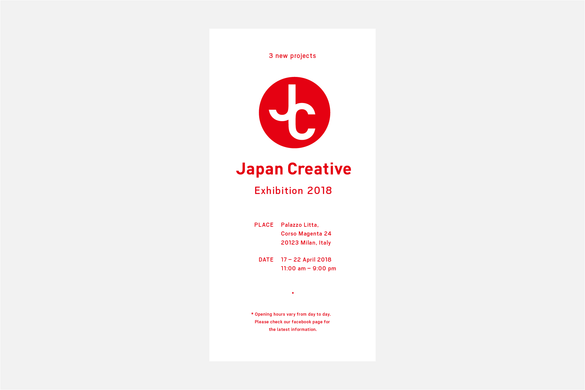 Japan Creative Exhibition Milan 2018